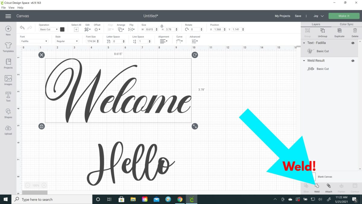 script font connected cursive