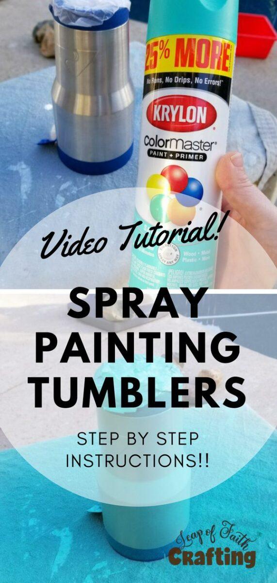 spray paintingstainlesssteeltumbler pin