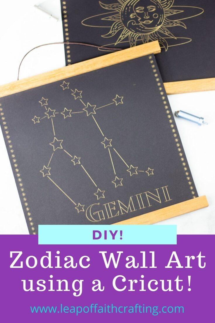 zodiac wall art pinterest