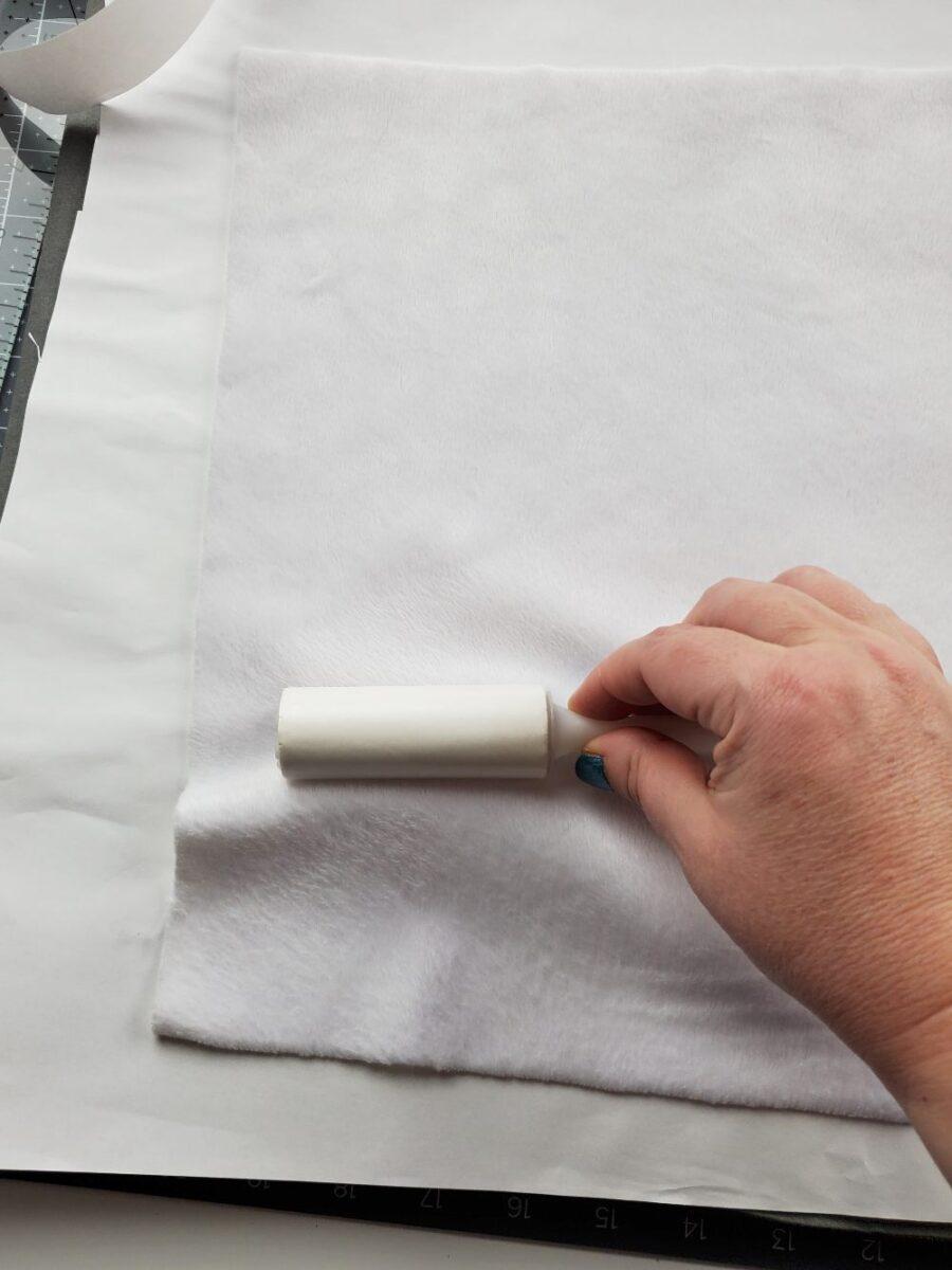 lint rolling minky fabric