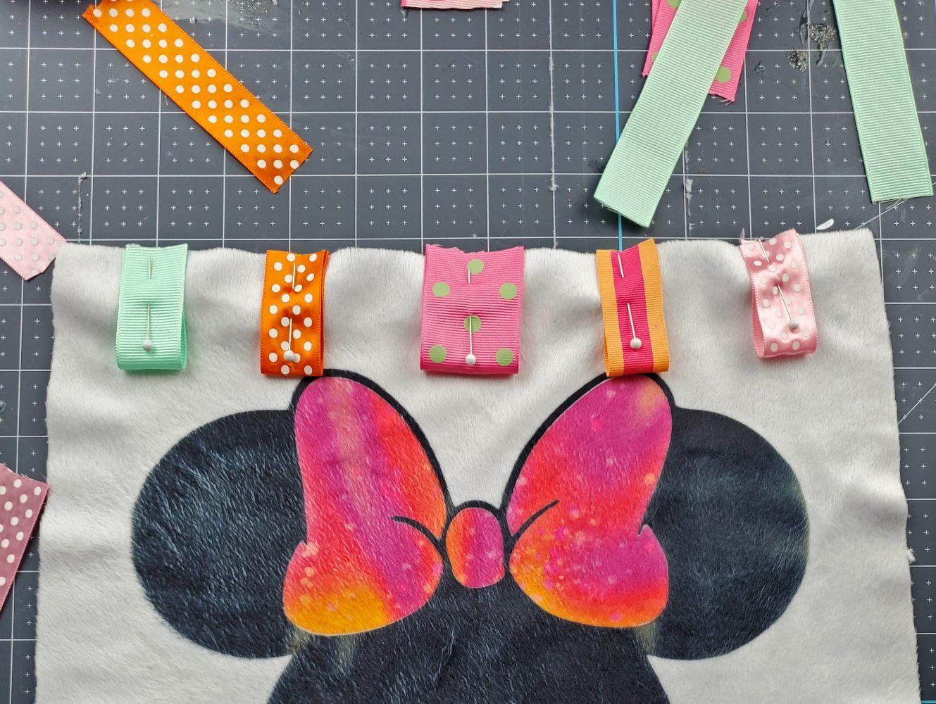 making ribbon baby blanket