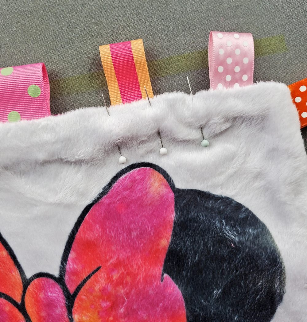 minky baby blanket how to