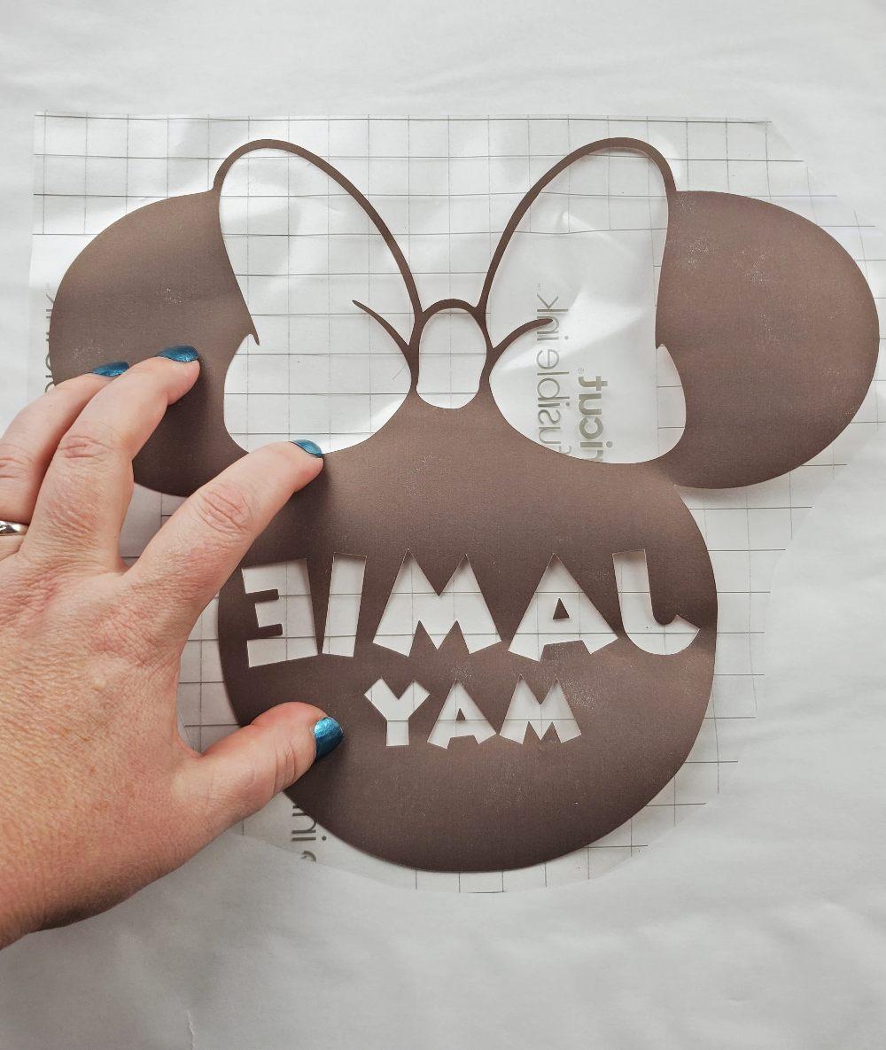 minnie mouse monogram blanket