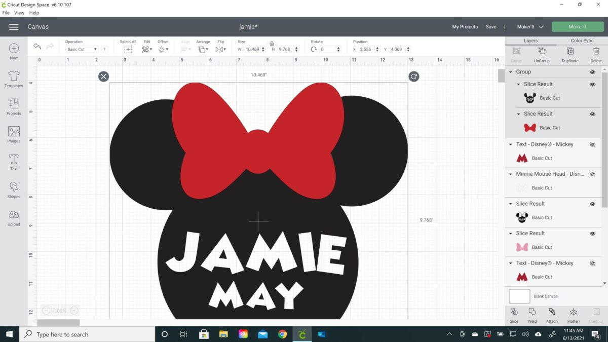 minnie mouse personalized blanket cricut