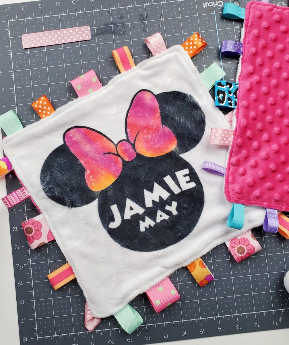 personalized minky baby blanket
