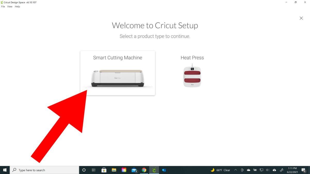 smart cutting machine setup