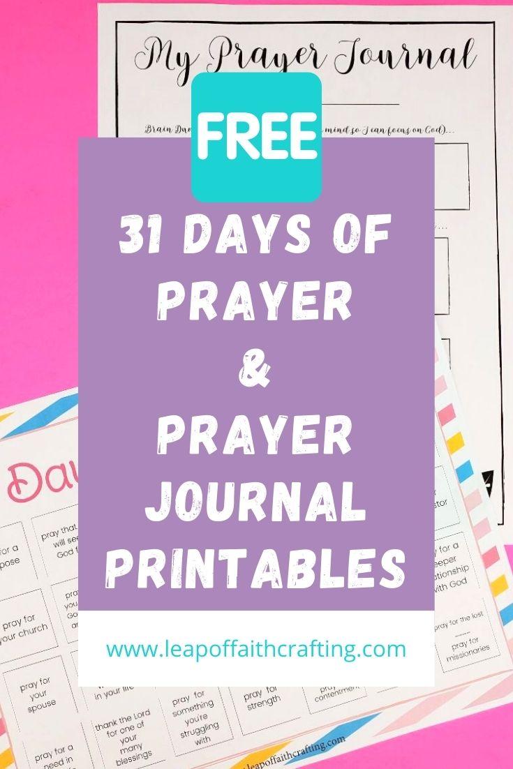 prayer journal printable pinterest