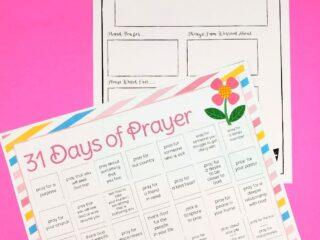 prayer printables pdf