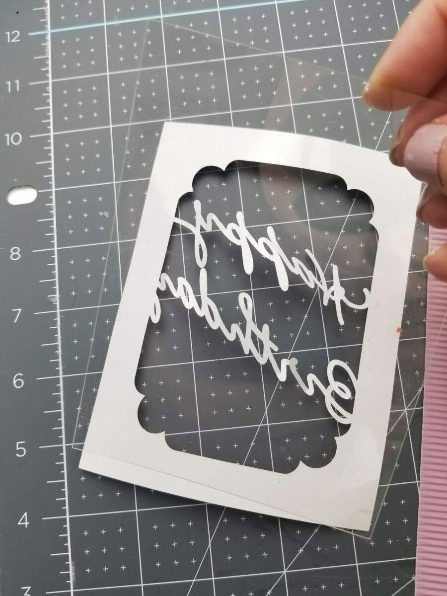 applying acetate to shaker card