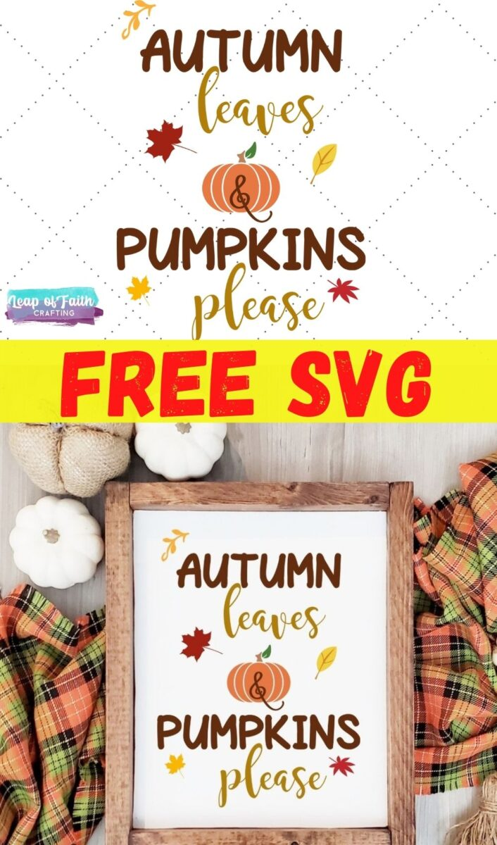 autumn leaves and pumpkins please svg