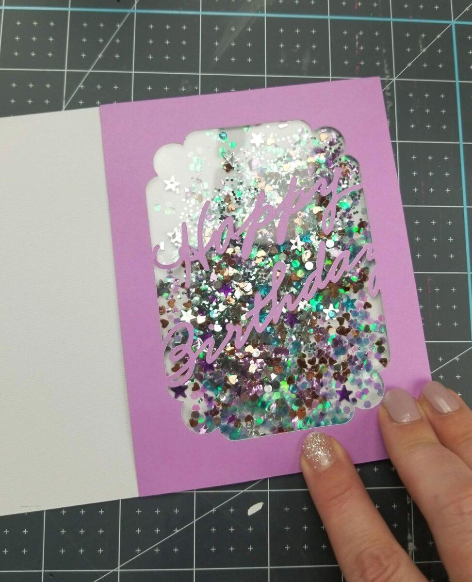 birthday shaker card diy