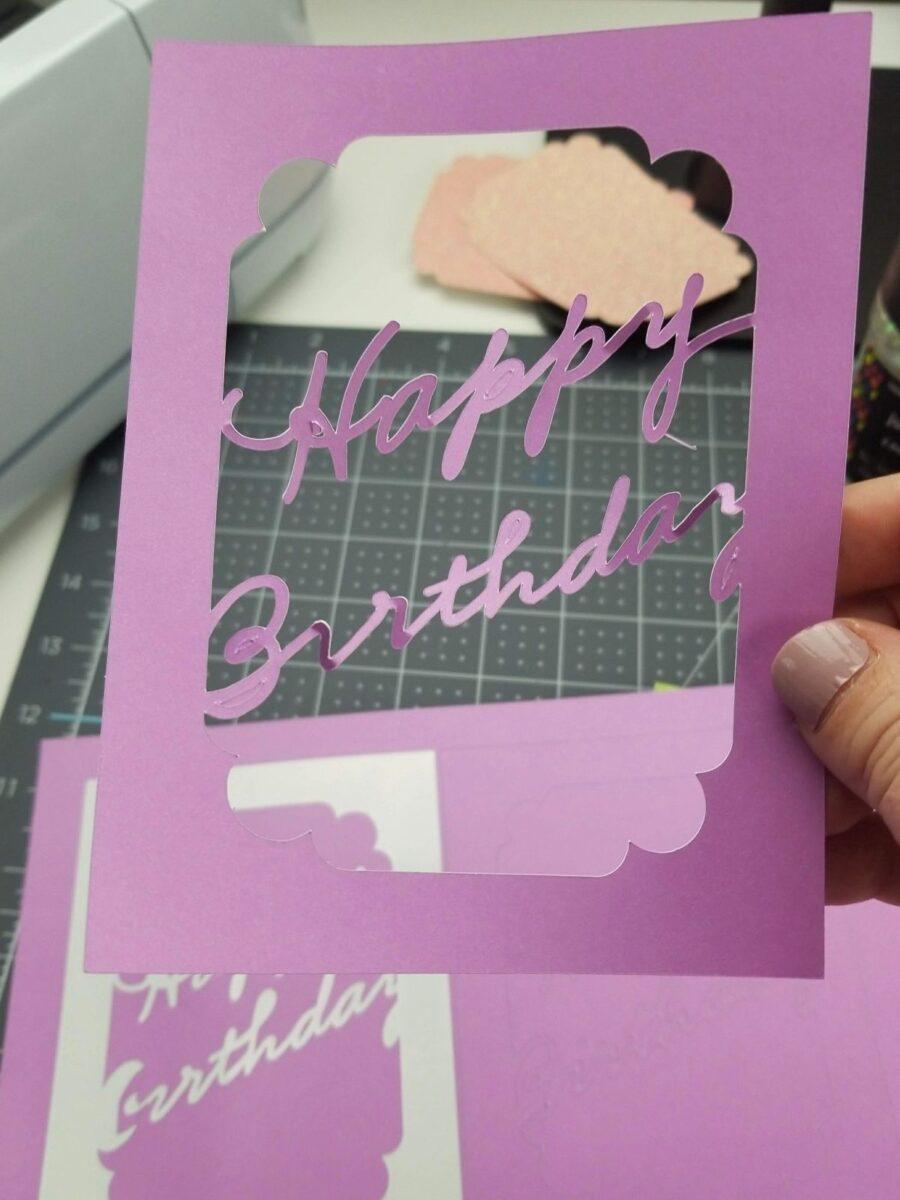 birthday shaker card tutorial