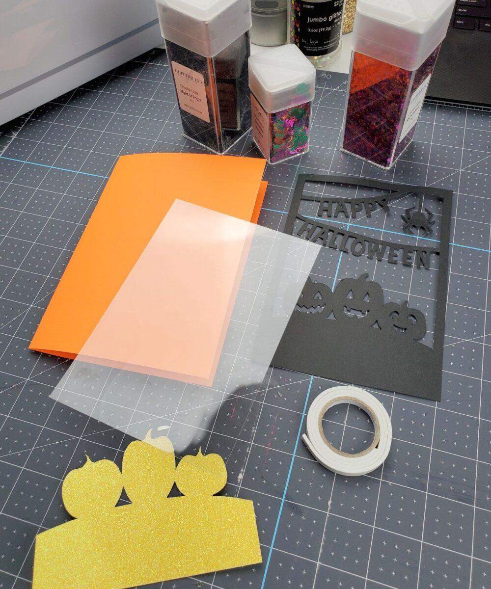 cricut shaker card materials