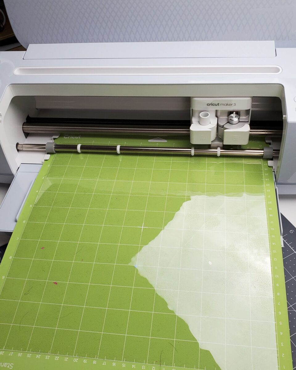 cutting acetate sheet cricut