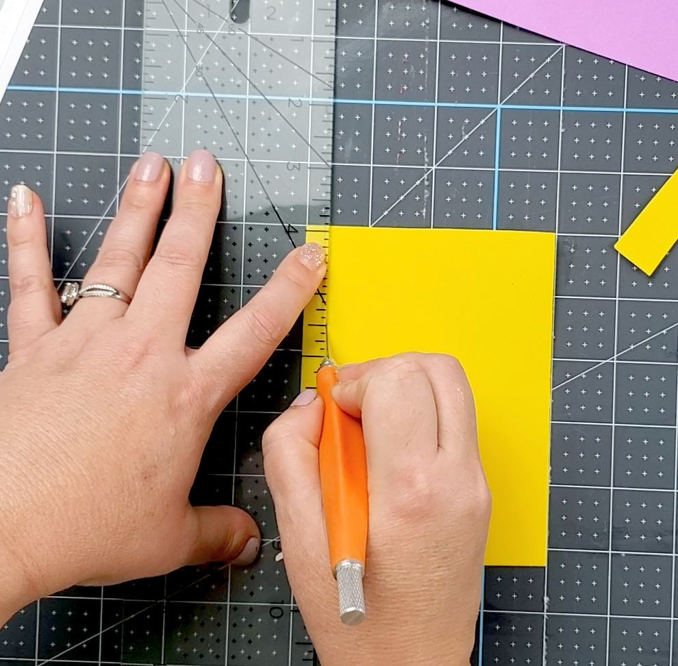 cutting foam for shaker card