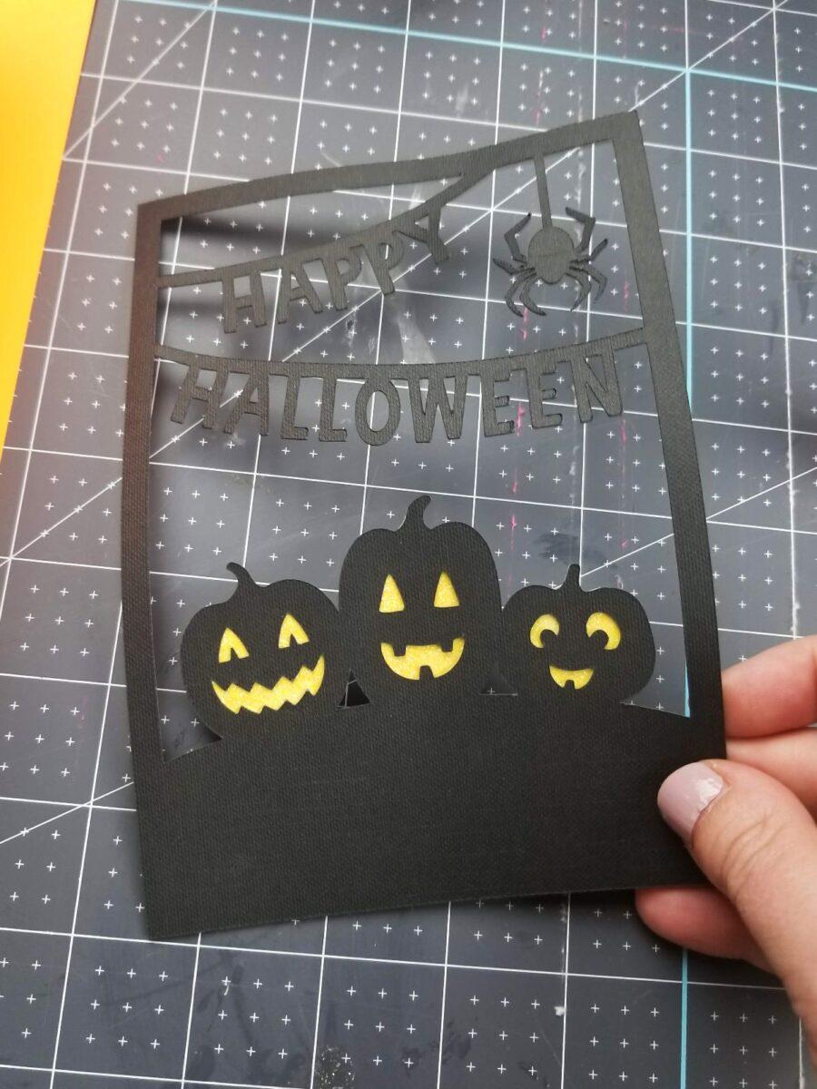 halloween cricut card