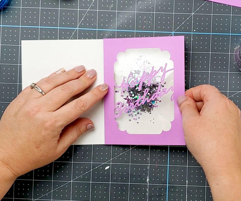 putting together shaker card
