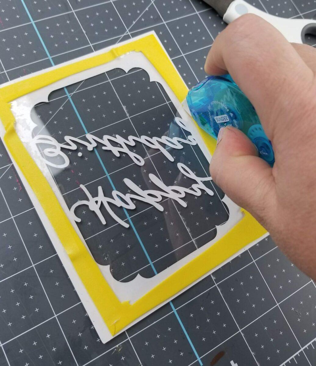 using foam in shaker card