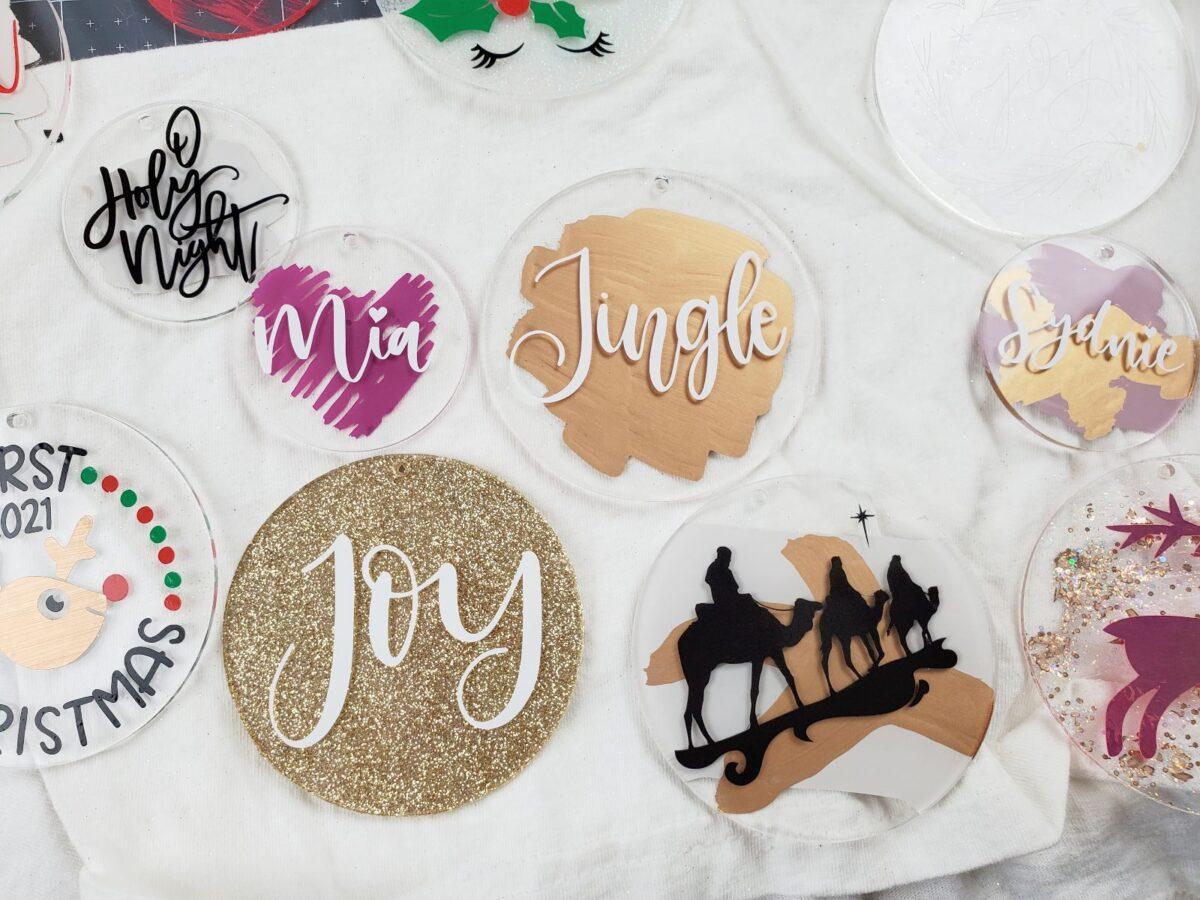 cricut christmas ornaments