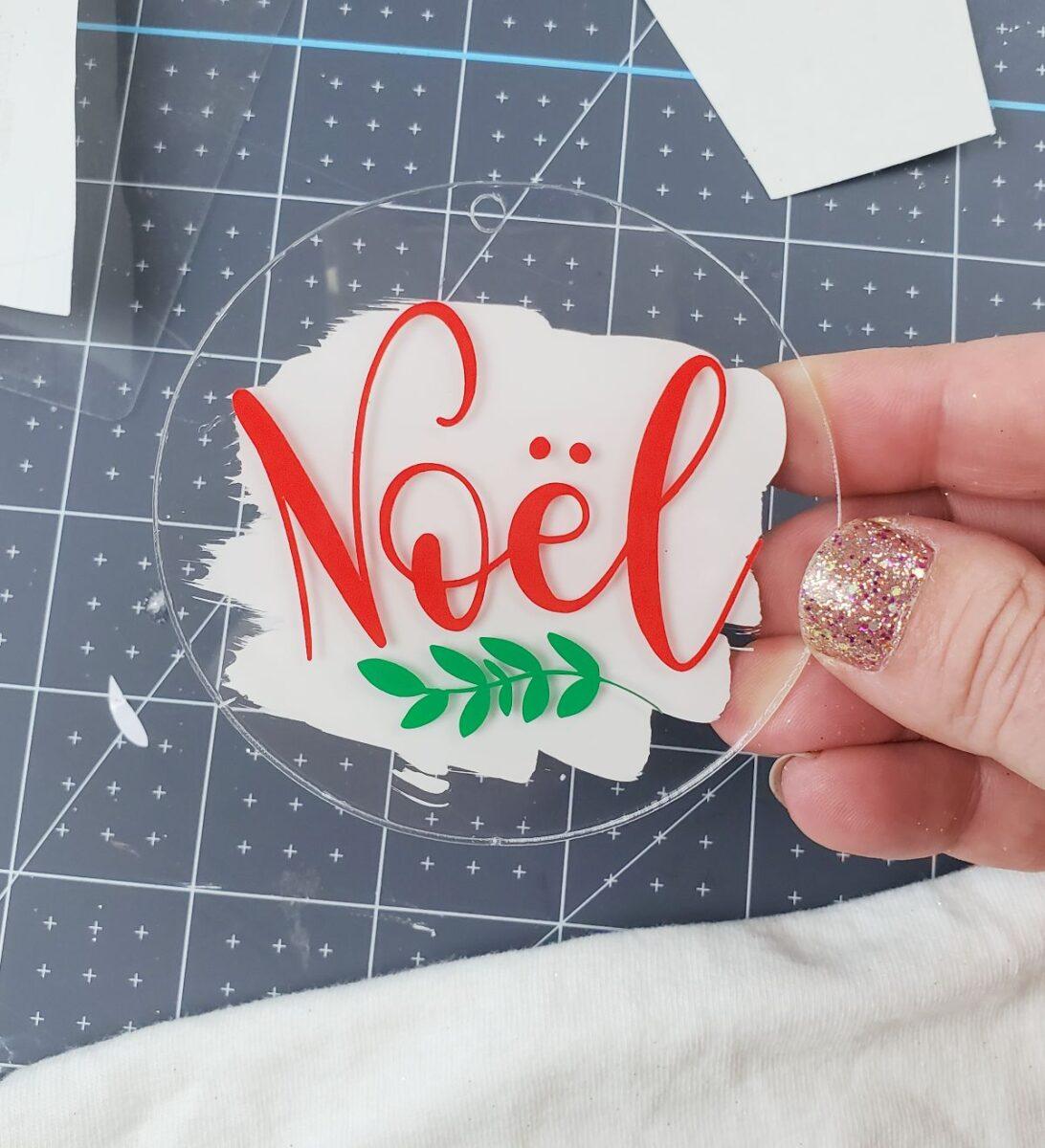 cricut christmas ornaments noel