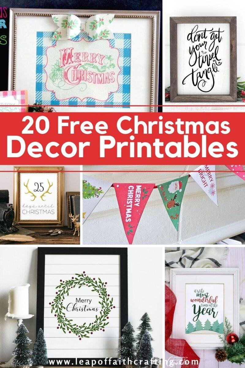 free christmas decor printables