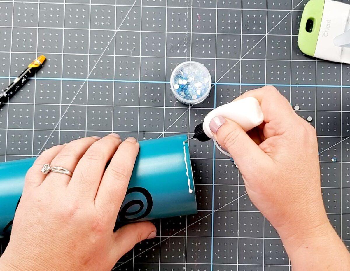 glue for rhinestone tumbler