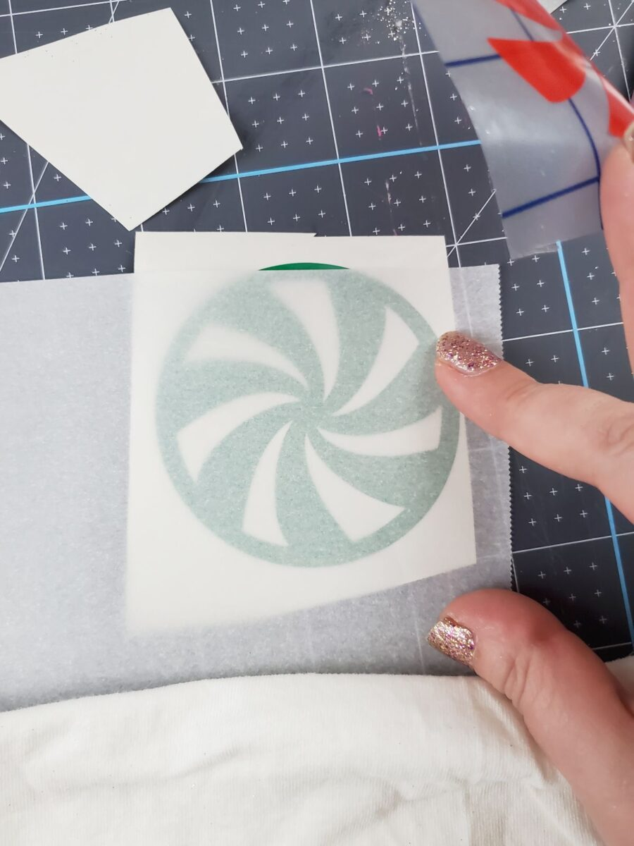 layering vinyl with parchment paper