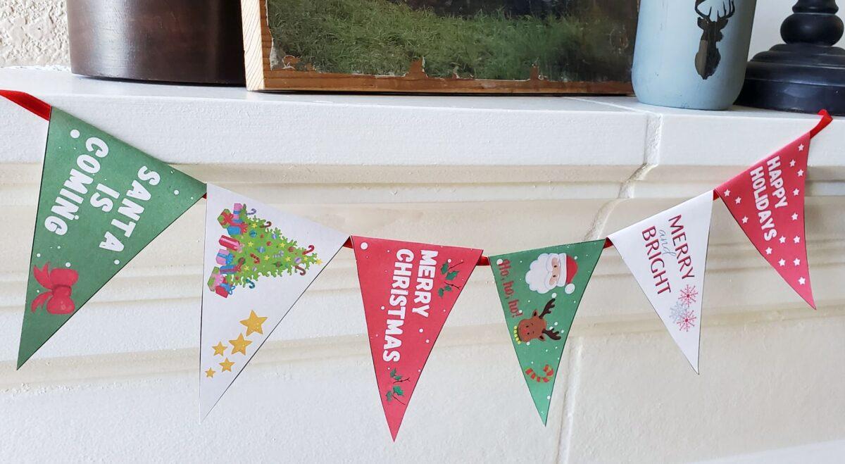 printable christmas pennant banner