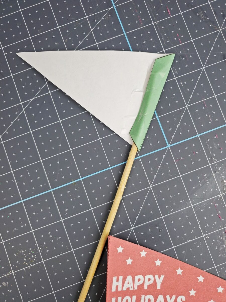 taping stick on printable pennant