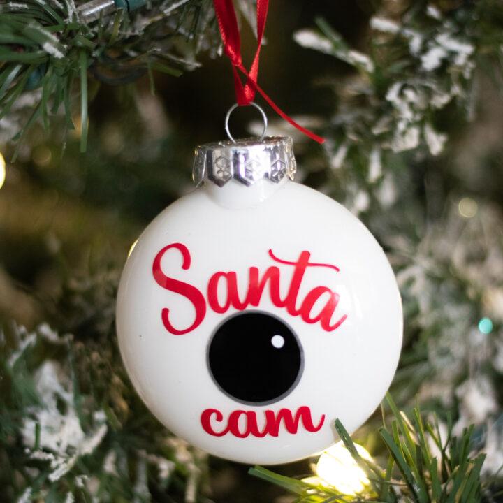 santa cam ornament