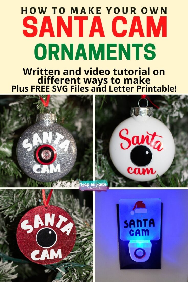 santa cam ornaments diy pin